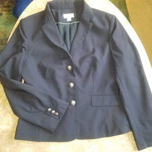 Ann Taylor LOFT Navy Suit Jacket Blazer 10